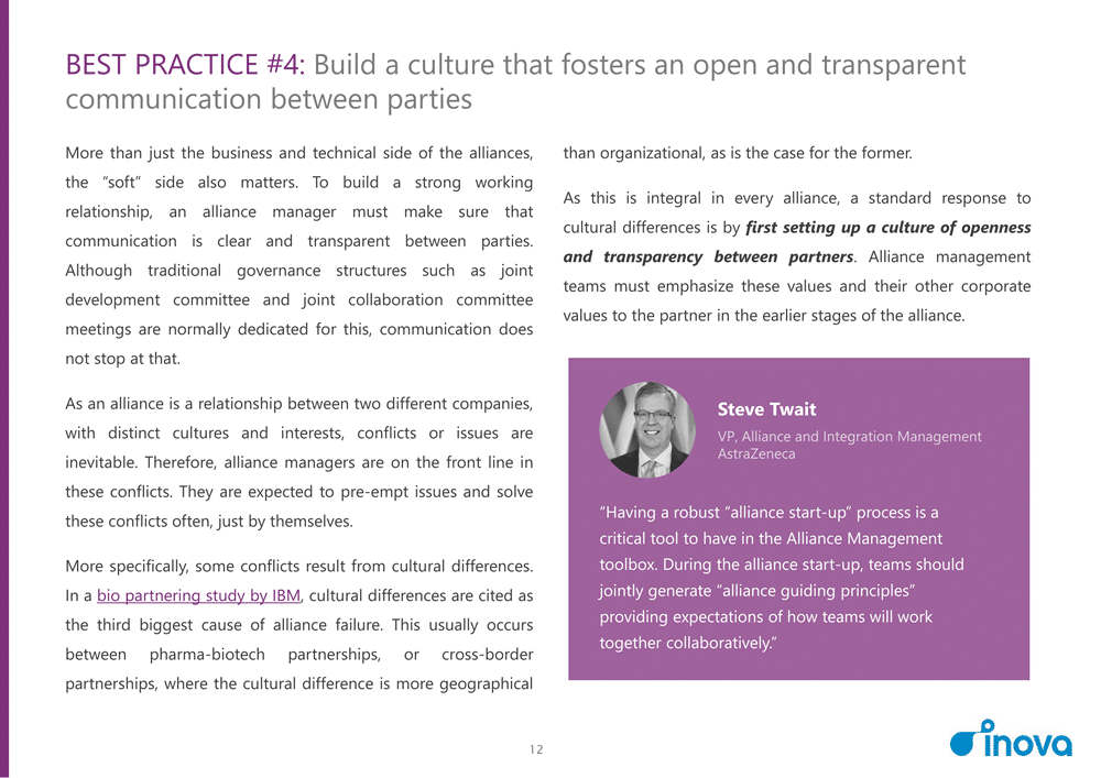 Preview n°1 of 7 Best Practices for a Successful Alliance Management Function