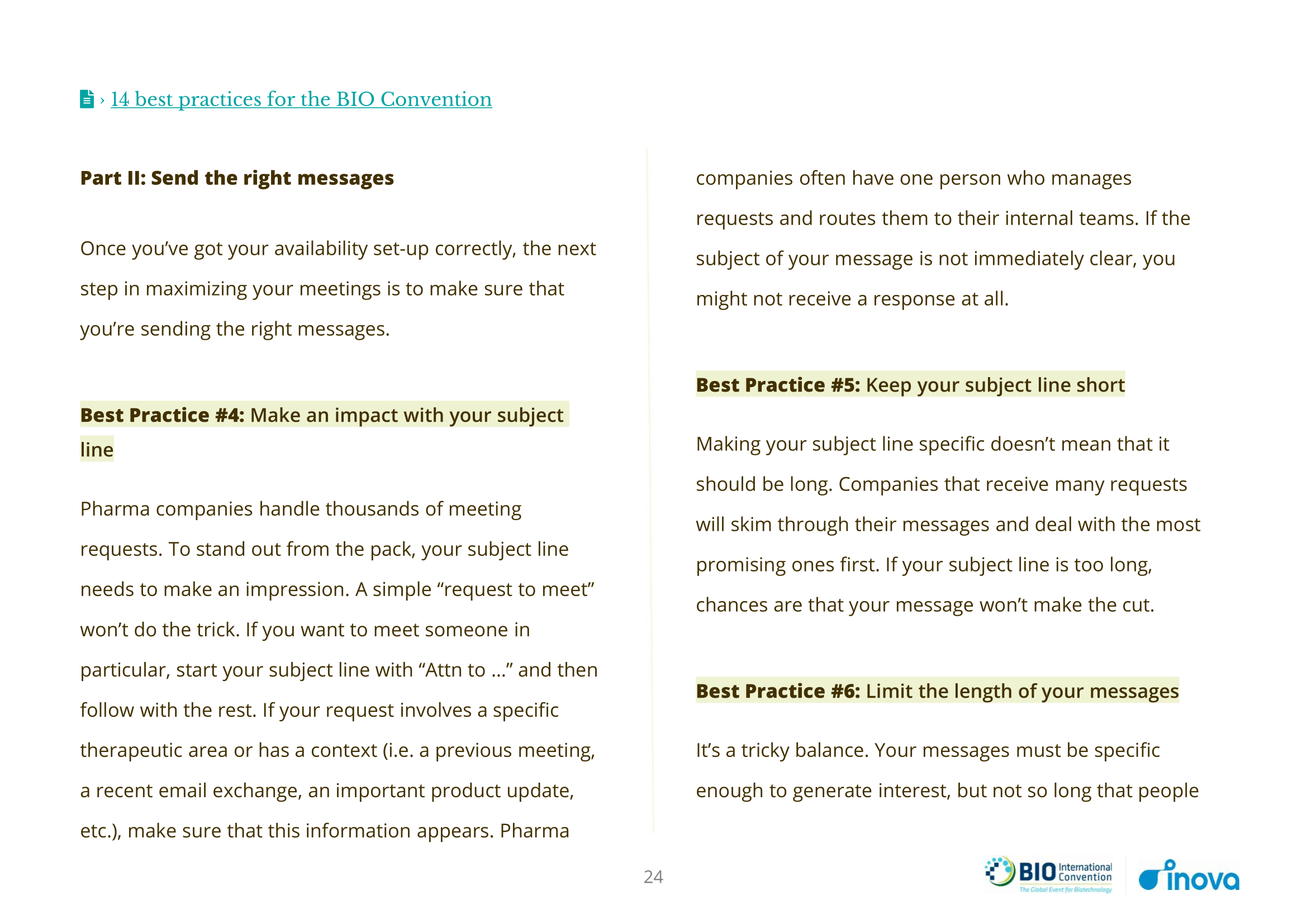 Preview n°2 of 14 Best Practices for Maximizing Your ROI at the BIO International Convention