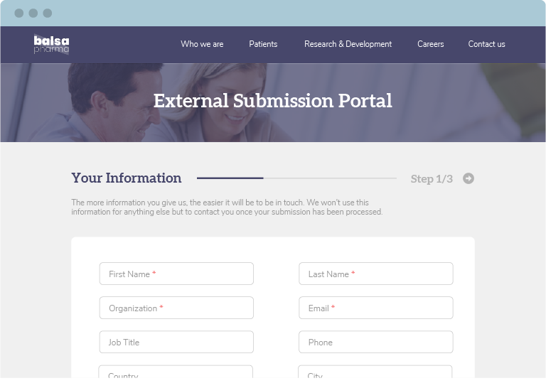 Centralize unsolicited partnering leads with our external opportunity portal