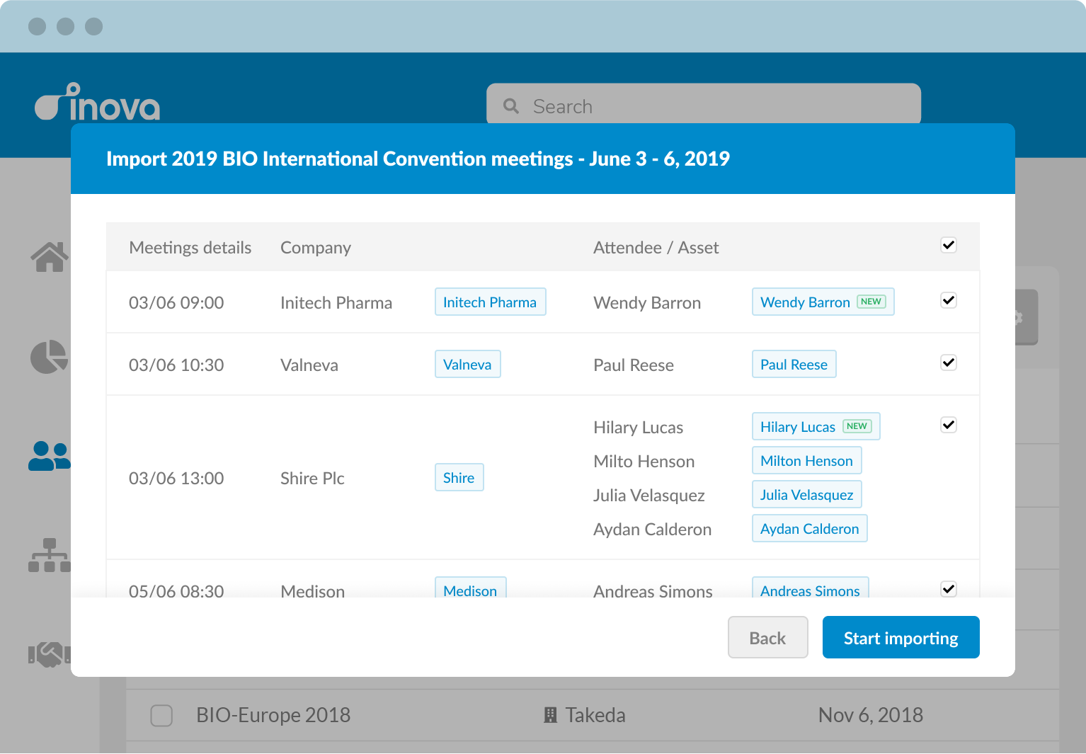Add your meeting information in seconds