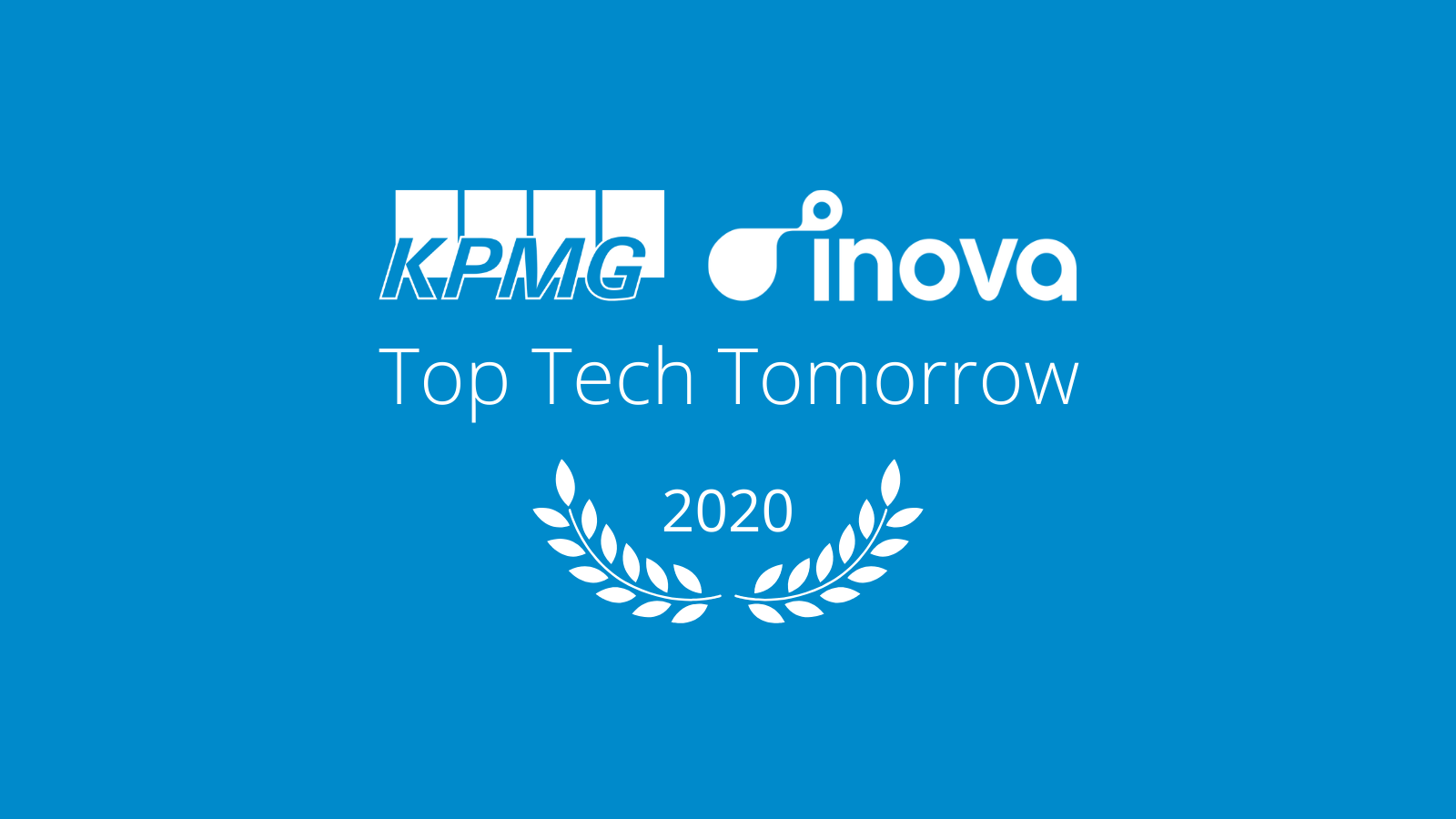 Inova is a KPMG Top Tech Tomorrow Laureate
